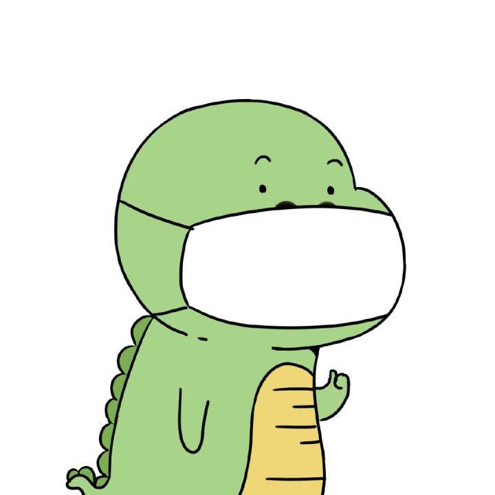 戴口罩的卡通头像图片