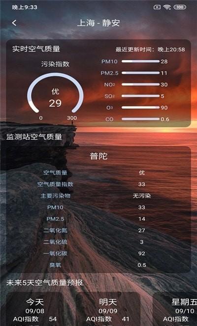 美眉好天气手机软件app截图